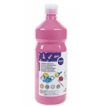 Tempera liquida Liderpapel escolar 1000 ml color rosa
