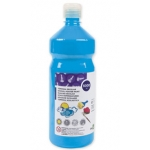 Tempera liquida Liderpapel escolar 1000 ml color turquesa