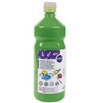 Tempera liquida Liderpapel escolar 1000 ml color verde