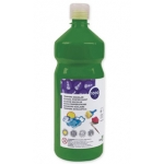 Tempera liquida Liderpapel escolar 1000 ml color verde oscuro