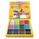 Tempera solida en barra Instant escolar caja de 144 unidades 12 colores surtidos