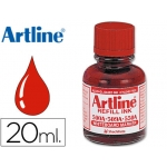 Tinta Artline color rojo para rotulador pizarra blanca 500-a frasco de 20 ml