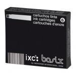 Tinta estilográfica Inoxcrom negra caja de 6 cartuchos