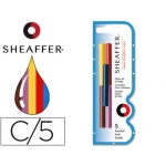 Tinta estilográfica Sheaffer colores surtidos ne/az/pur/verro blister 5 cartuchos