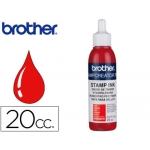 Tinta para reentintado color rojo 20 cc para sellos automáticos Brother