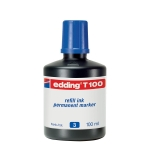 Tinta rotulador Edding color azul frasco de 100 ml