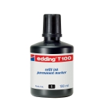 Tinta rotulador Edding color negro frasco de 100 ml