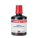 Tinta rotulador Edding color rojo frasco de 100 ml
