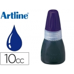 Tinta sello preentintado Artline Nº color azul frasco de 10 cc