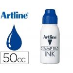 Tinta tampon Artline color azul frasco de 50 cc