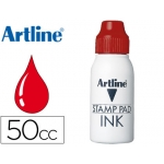 Tinta tampon Artline color roja frasco de 50 cc