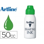 Tinta tampon Artline color verde frasco de 50 cc