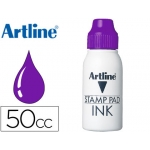 Tinta tampon Artline color violeta frasco de 50 cc