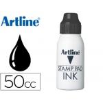 Tinta tampon Artline negra frasco de 50 cc
