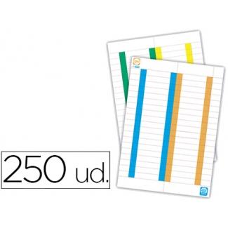 Elba - Tiras de papel para visores, pack con 250 etiquetas