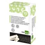 Tiza color Blanca antipolvo liderpapel caja de 10 unidades