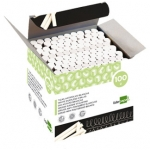 Tiza color Blanca antipolvo liderpapel caja de 100 unidades