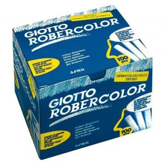 Tiza color Blanca antipolvo robercolor caja de 100 unidades