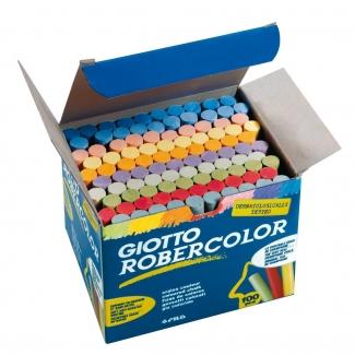 Tiza color antipolvo Robercolor caja de 100 unidades