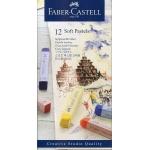 Tiza pastel Faber-Castell estuche cartón de 12 unidades colores surtidos