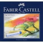 Tiza pastel Faber-Castell estuche cartón de 24 unidades colores surtidos