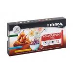 Tiza pastel Lyra estuche cartón de 12 unidades colores surtidos