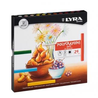 Tiza pastel Lyra estuche cartón de 24 unidades colores surtidos