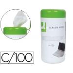 Q-Connect KF04501 - Bote de toallitas limpiadoras, bote de 100 unidades