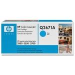 Tóner HP 309A referencia Q2671A cian