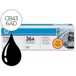 Tóner HP 36A referencia CB436AD negro Pack de 2