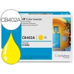 Tóner HP 624A referencia CB402A amarillo