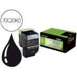 Tóner Lexmark referencia 70C20K0 negro
