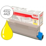 Tóner OKI amarillo (43324421) -5.000 páginas- referencia C5800 C5900 C5550