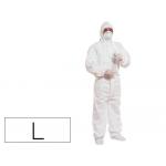 Traje de seguridad Deltaplus polipropileno con capucha de un solo uso color blanco talla l