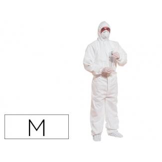 Traje de seguridad Deltaplus polipropileno con capucha de un solo uso color blanco talla m