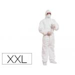 Traje de seguridad Deltaplus polipropileno con capucha de un solo uso color blanco6 talla xxl