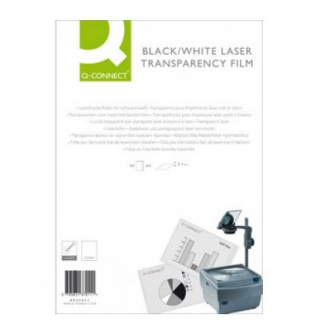 Transparencia Q-Connect tamaño A4 de alta calidad para impresora laser caja de 50