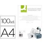 Transparencia Q-Connect tamaño A4 para fotocopiadora tratada dos caras caja de 100