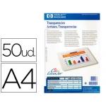 Transparencia hewlett packard laser tamaño A4 50 hojas