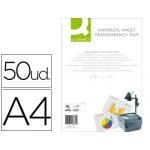 Transparencias Din A4 Q-Connect, válido para impresoras ink-jet