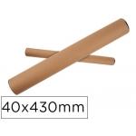 Q-Connect KF17771 - Tubo de cartón portadocumentos, tapa de plástico, medidas 40 x 430 mm