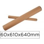 Tubo de cartón portadocumento tapa plástico 60x610x640 mm