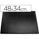 Vade sobremesa plástico 250 negro con bolsa interior tamaño 48x34 cm