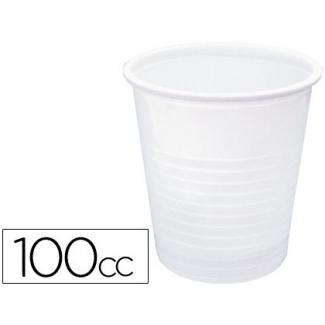 Vaso de plástico color blanco 100cc paquete de 50