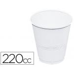 Vaso de plástico color blanco 220 cc paquete 100