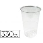Vaso de plástico transparente 330cc paquete de 50