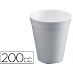 Vaso termico de poliexpan 200cc paquete de 25