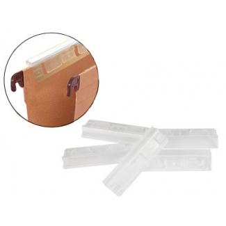 Visor de cristal carpeta colgante 8 cm para tira