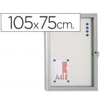 Vitrina de anuncio 105x75 para exterior com marco aluminio cerradura y puerta abatible