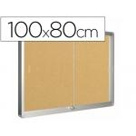 Vitrina de anuncios Q-connect marco de aluminio 100x80 cm